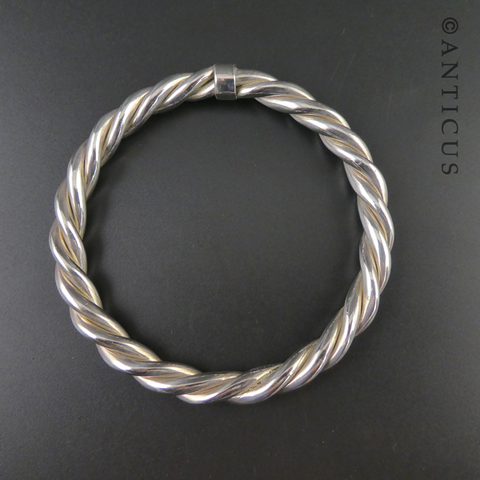 Thick Rope Twist Bangle.