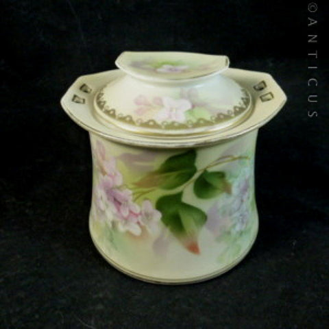 Poland China Fine Porcelain Lidded Pot.