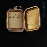 Gold Photo Locket, Early 1900s.