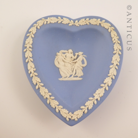 Wedgwood Heart-Shaped Pin Dish.