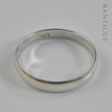 Man's Silver Plain Bevelled Band Ring.