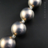 Necklace, Silver and Pearly Soft Gold Beads.