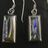 Silver, Paua Shell and Mother of Pearl Earrings.