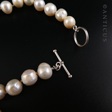 Long Freshwater Pearl Necklace, Large Pearls.