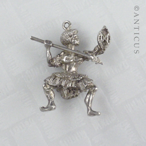 Silver Pacific Islands Warrior Charm