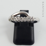 Silver Modern Ring with Zirconia.