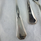 Set of Vintage Silver Plate Fish Knives and Forks.