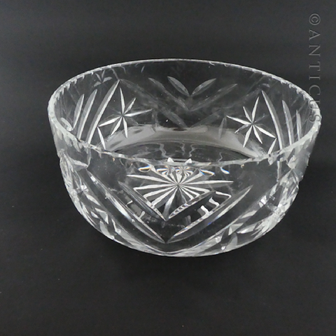 Vintage Webb Corbett Crystal Fruit or Salad Bowl.