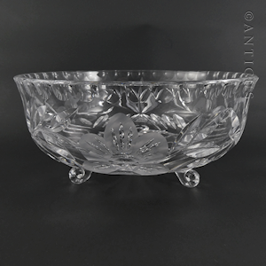 Vintage Cut Crystal Fruit Bowl.