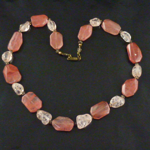 Rose Quartz and Pink Agate Necklace.