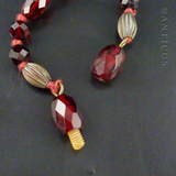 Graduated Faceted Bakelite Vintage Necklace.