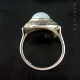 Silver Ring with Moonstone.
