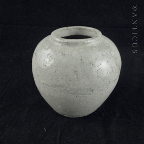 Stoneware Old Chinese Ginger Jar.