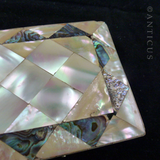 Mother of Pearl Calling Card Case, Victorian.