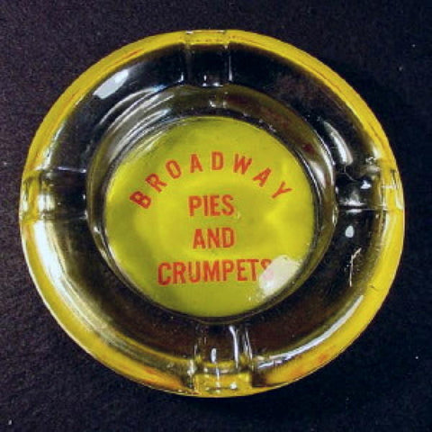 Advertising Ashtray, Pies and Crumpets.