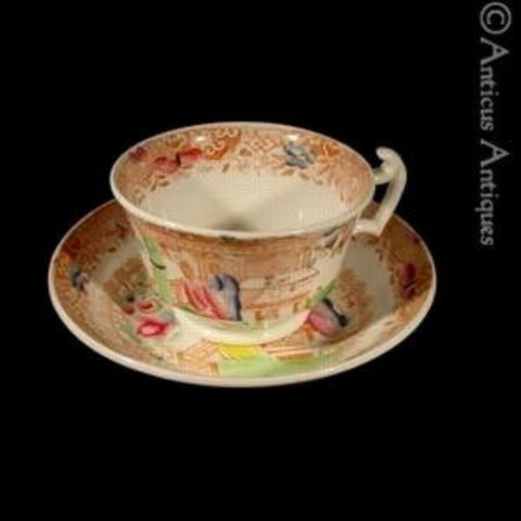 Early 19th Century Georgian Teacup and Saucer.