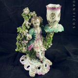 Porcelain Figurine, 18th Century?, Candleholder.