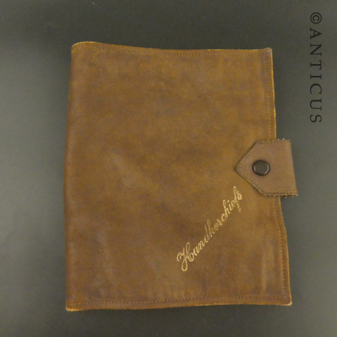 Soft Leather Vintage Handkerchief Sachet.