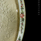 Edwardian Floral Enamel and Gilt Photo Frame.