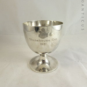 Sterling Silver Golfing Trophy Cup, 1930, Ashdown.