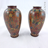 Pair of Small Cloisonné Vases, Japanese.