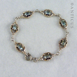 Silver and Blue Topaz Bracelet.