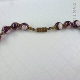 Pretty Purple Venetian Glass Vintage Necklace.