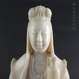 Ivory Kuan Yin Chinese Carving.