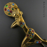 Art Deco Costume Brooch of Salome, the Dancer.