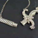 French Silver Chatelaine Dagger Needle Case.