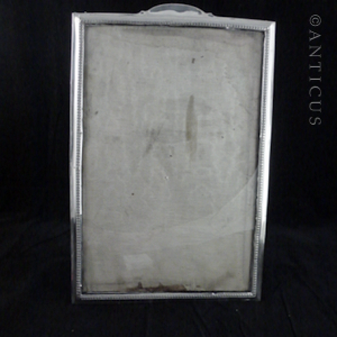 Large Sterling Silver Photo Frame, 1910.