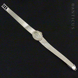 Ladies Diamonds and White Gold Vintage Watch.