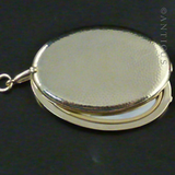 Gold Vermeil Large Locket, Mirror Interior.