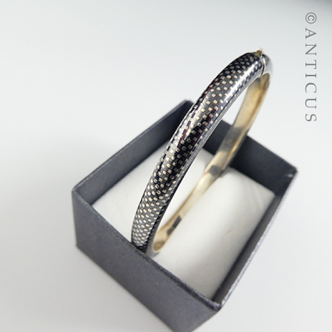 Old European Niello and Silver Bangle.
