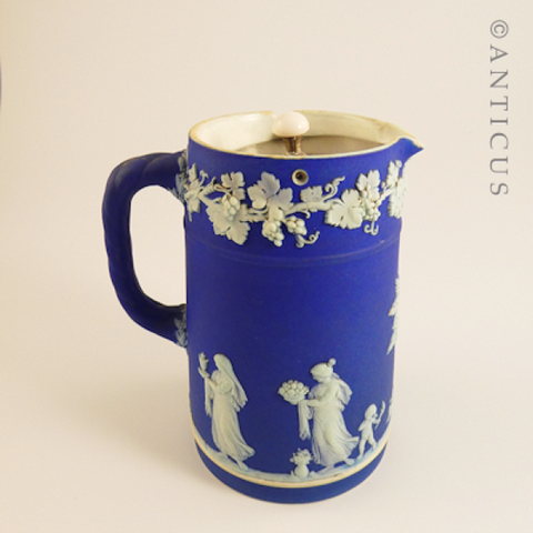Wedgwood Lidded Pitcher, Mid to Late 1800s.