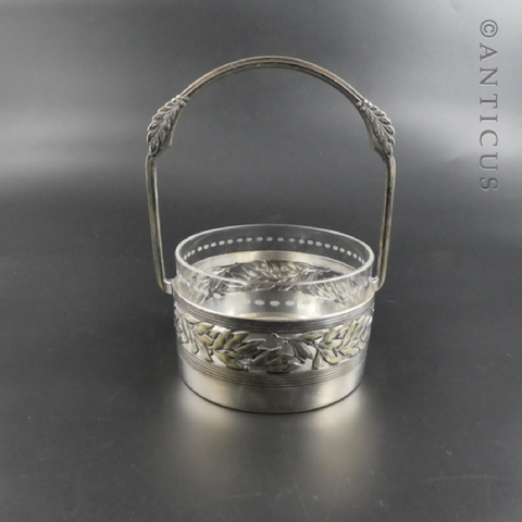 WMF Jugendstil Basket with Glass Liner.