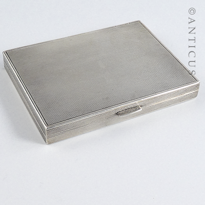 Silver Double Hinged Cigarette or Cheroot Case.