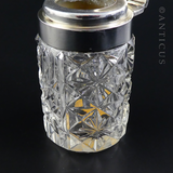 Smelling Salts Jar, Silver Lid, 1902.