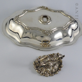Victorian Entreé Dish and Lid, Silver Plate.