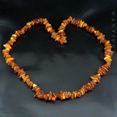 New Zealand Kauri Gum Amber Necklace.