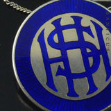 Silver and Blue Enamel Prefects Badge, H.H.S.