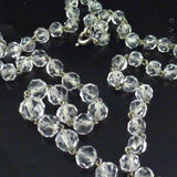 Graduated Strand Crystal Beads on Chain.