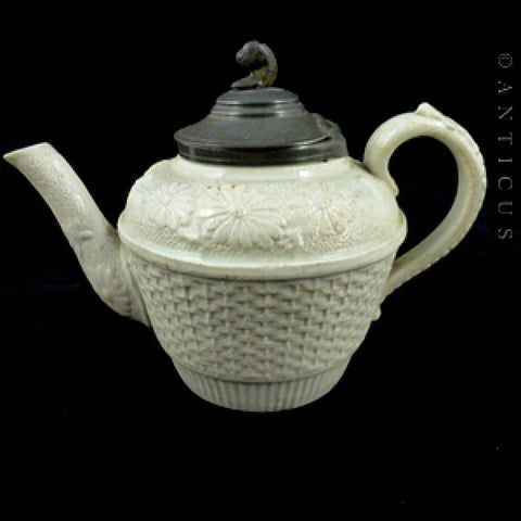 Salt Glaze Victorian Child's Teapot.