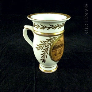 Early 1800s German Chocolate Cup, Hand Painted.