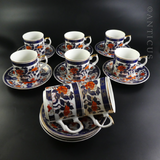 Modern Imari Patterned Coffee Set.