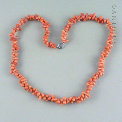 Short Coral Twig Necklace.