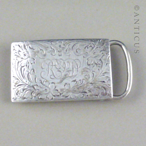 Sterling Silver Buckle, Circa 1915.