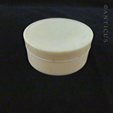 Small Round Ivory Lidded Box.