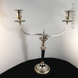 Candelabrum, Two Branch, Old Sheffield Plate.