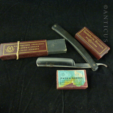 French Shaving-Razor with Original Sharpening Rouge.